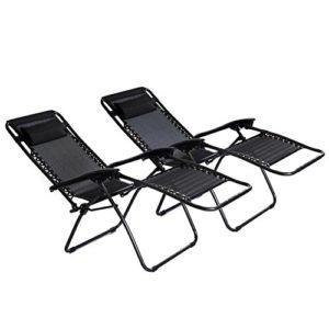 2X Sedia a Sdraio Pieghevole reclinabile da Giardino
