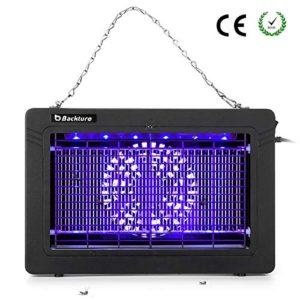BACKTURE Lampada Antizanzare, 7W Risparmio Energetico UV Zanzariera Elettrica, Repellente Zanzare Senza Sostanze chimiche per Mosche Insetti, Area Efficace di 30 m²