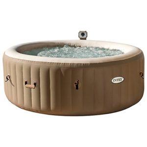 Intex 28404 Pure Spa Bubble Therapy con Pompa, Riscaldatore e Sistema Purificazione Acqua, 196x 71 cm