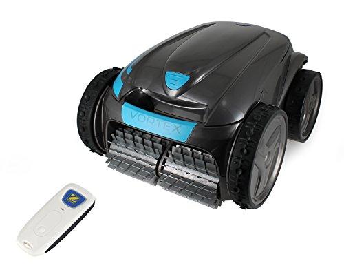 Zodiac Robot automatico per piscina Vortex OV 3505 Tile, Fondo/pareti e linea d'acqua, Telecomandato, Ruote speciali per piastrelle, Grigio/Azzurro, WR000167