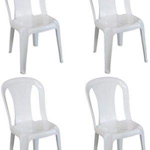Sedie Plastica Senza Braccioli.Sf Savino Filippo 4 Pz Poltrona Sedia Iride In Dura Resina