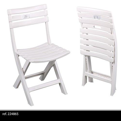 87 x 55 x 48,5 cm Grigio Antracite Relaxdays 10020943 Sedia Pieghevole da Balcone Metallo Plastica Seduta da Giardino HxLxP