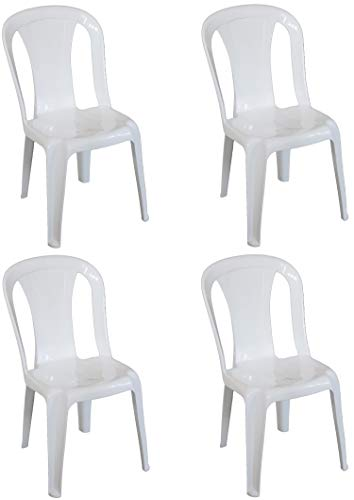 Sedie Plastica Per Giardino.Sf Savino Filippo 4 Pz Poltrona Sedia Aura In Dura Resina Di
