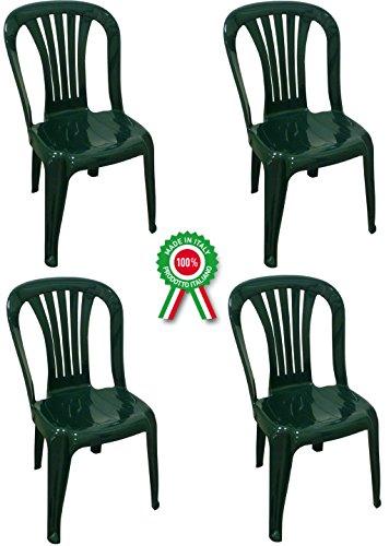 Sedie Plastica Giardino Roma.Sf Savino Filippo 4 Pz Poltrona Sedia Iride In Dura Resina Di