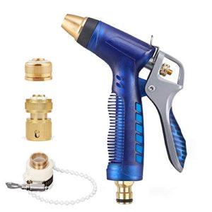 Moglor Giardino Ugello Tubo Flessibile Doccia Spruzzatore Acqua Pistola Spray Alta Pressione Regolabili Innaffiare per Irrigazione Pulizia (con 3 Interfaccia Connettori in Ottone)