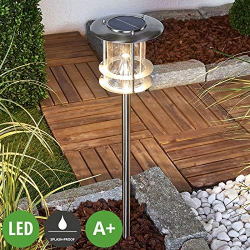 Lampade solari 'Sumaya' (Moderno) colore Grigio, in Acciaio Inox (6 luci, A+) di Lampenwelt | lampada solare, lampada solare giardino [Classe di efficienza energetica A+]